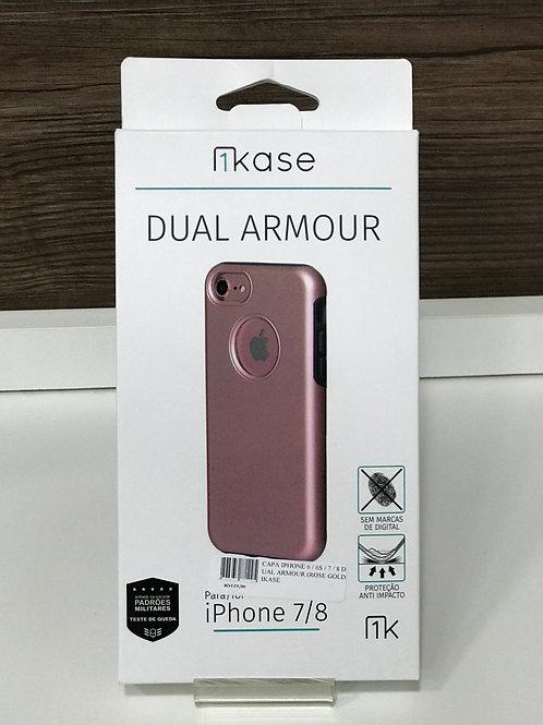 Capa Anti-Impacto Dual Armour Ikase para Iphone 6s/ 7/ 8 Rose