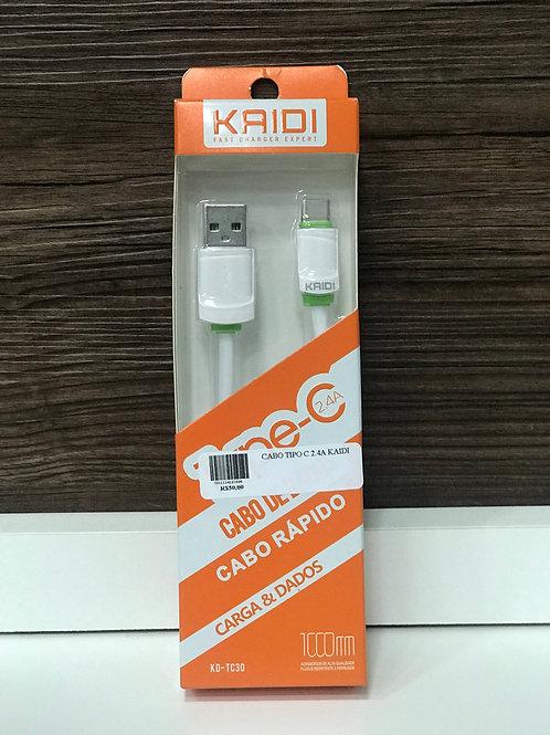 Cabo Carrga e Transferência De Dados USB Tipo C Type 2.4a Kaidi
