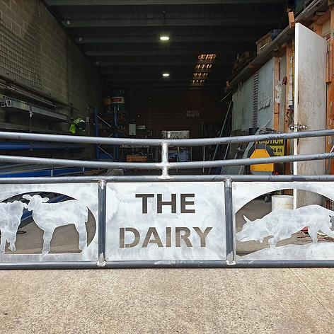 Dairy farm gate, before powdercoat