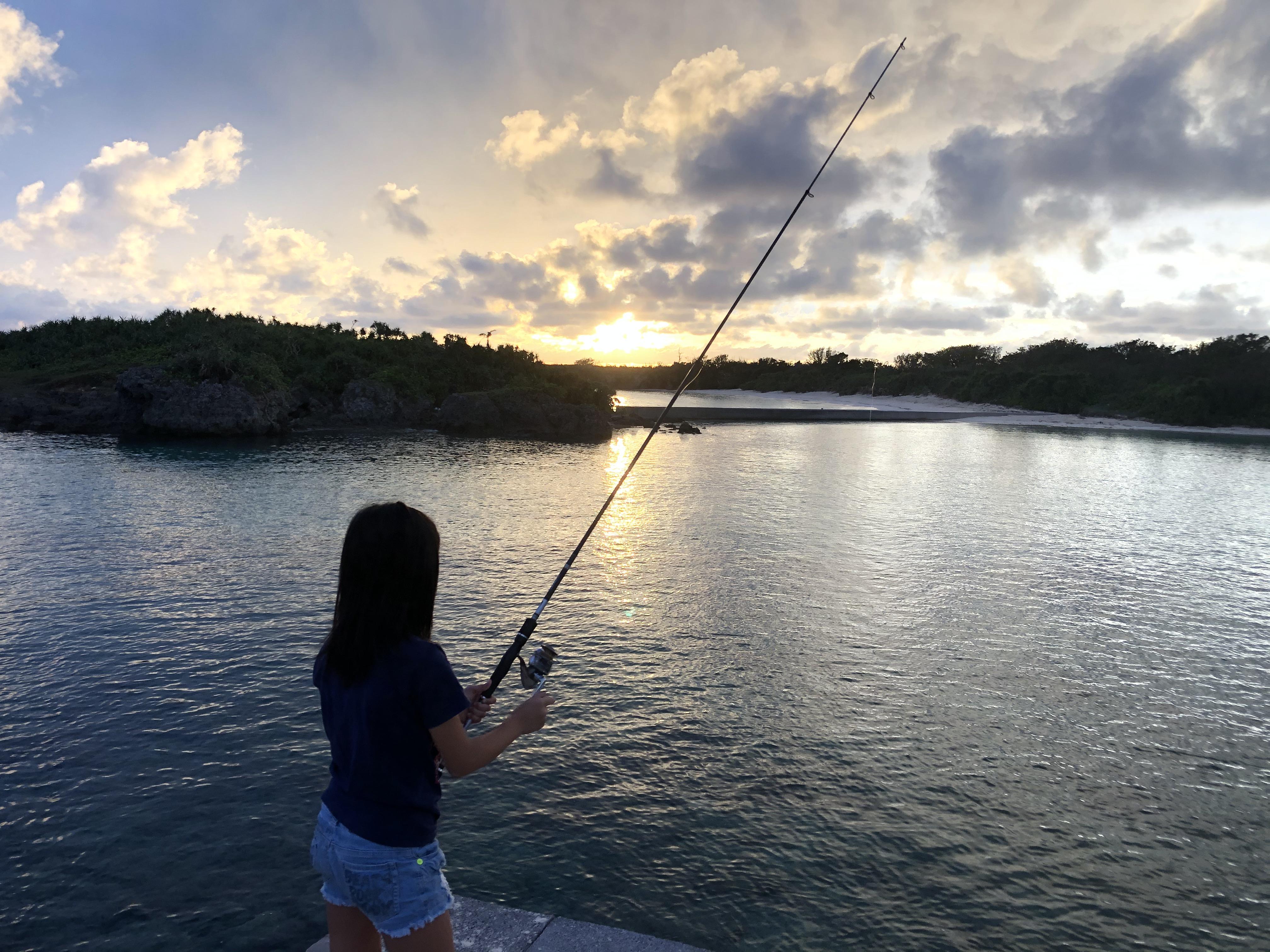 近くで釣りもできます。