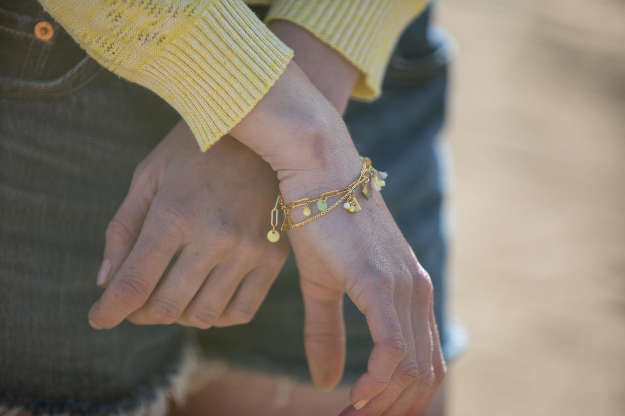 bracelet Idole jaune