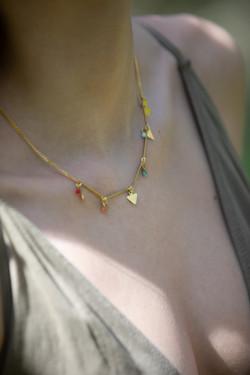 collier prisme arc en ciel