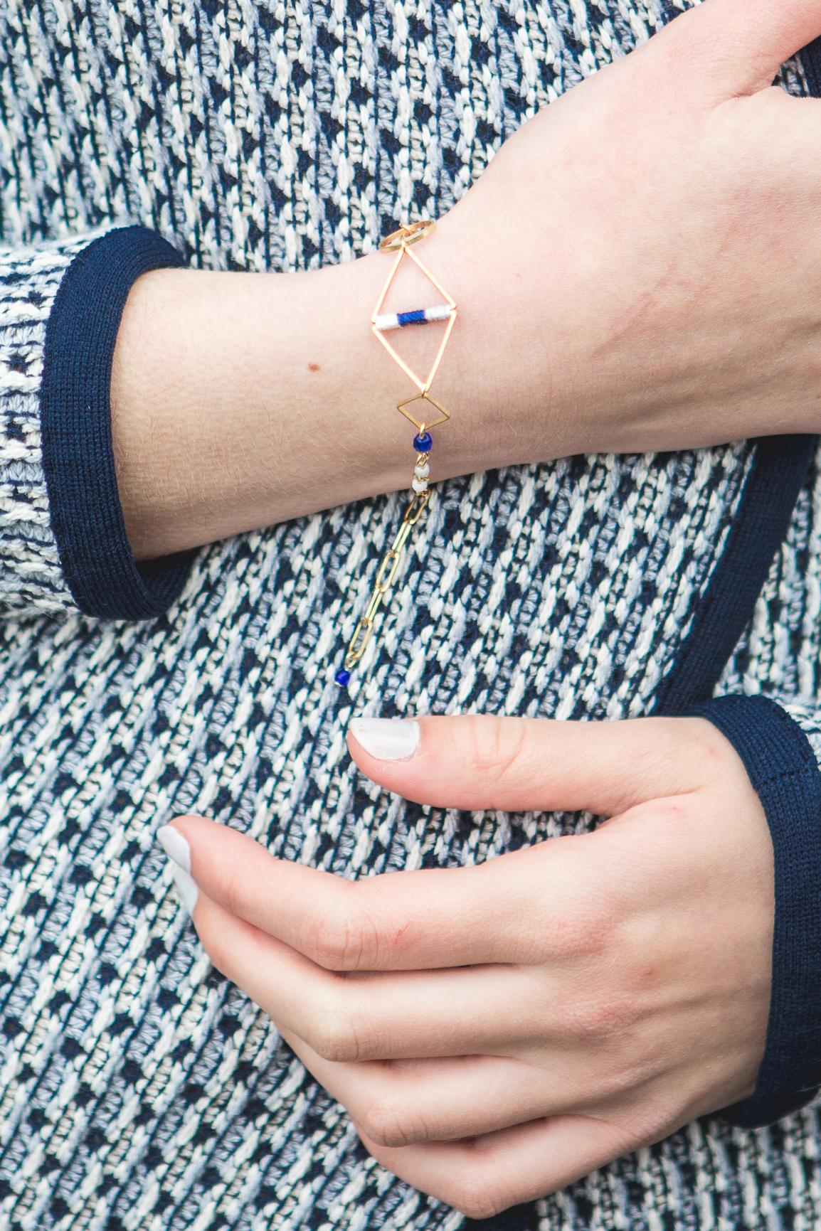 bracelet losange bleu-1