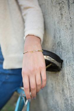 bracelet Silex bleu glacier