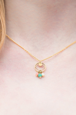 Collier mini losange pastel-1-3