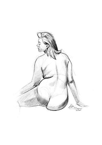 Dibujo Desnudo Femenino 5