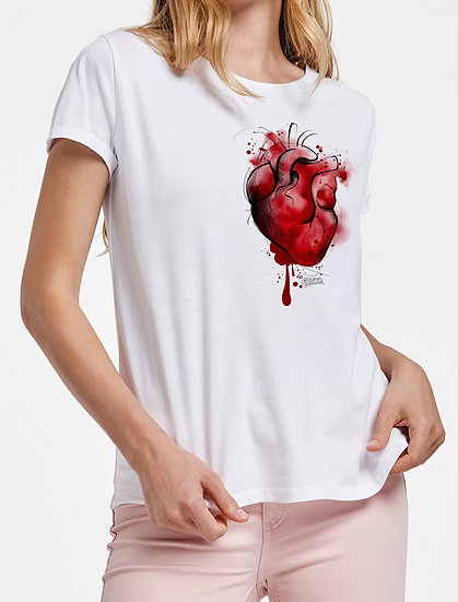 Chica Manga Corta: Corazón