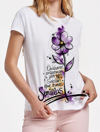 Chica Manga Corta: Flor