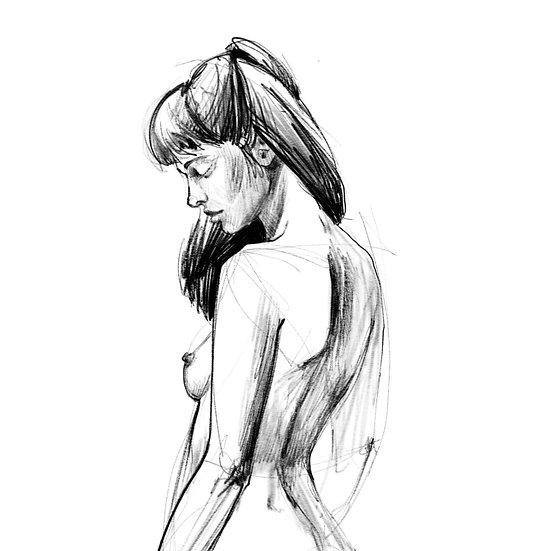 Dibujo Desnudo Femenino 1