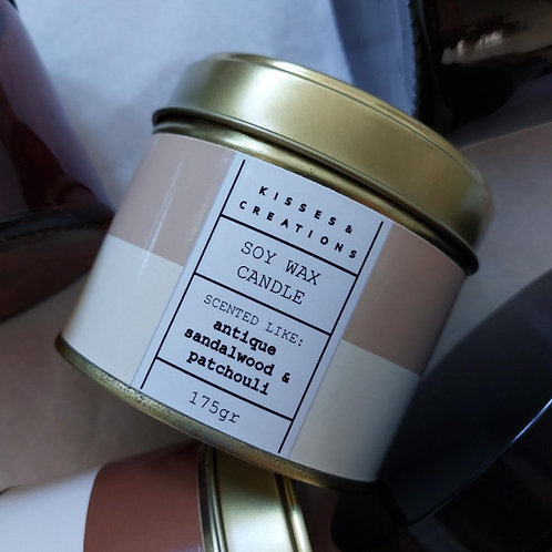 Antique Sandalwood Candle in a Can
