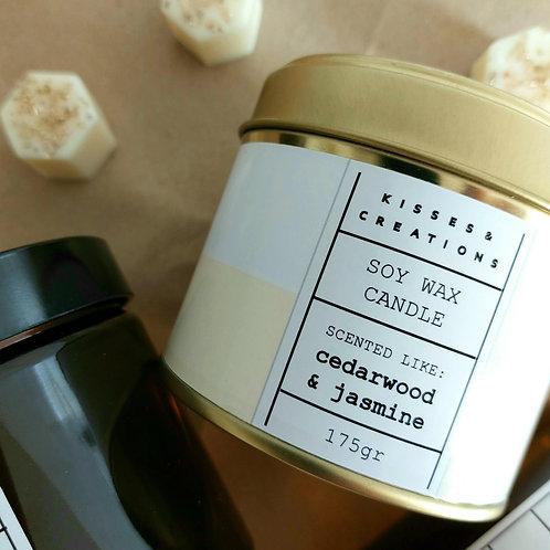 Cedar Wood & Jasmine Candle in a Can