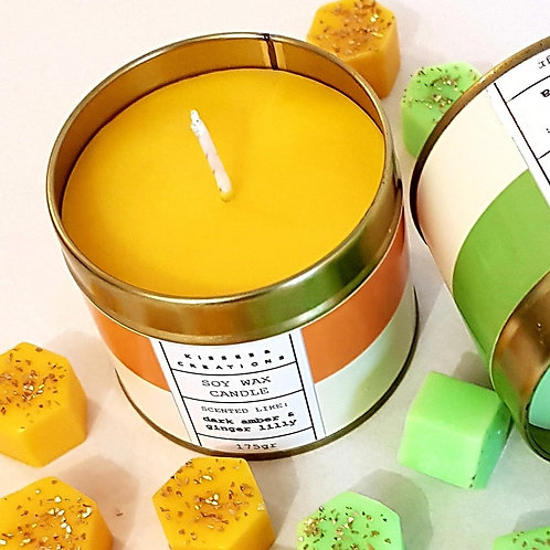 Dark Amber & Ginger Lilly Candle