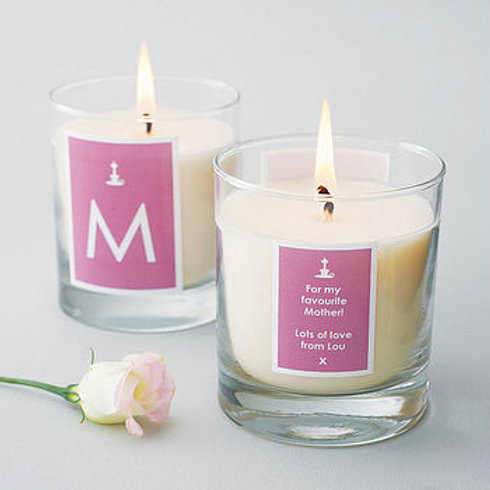 Personalised Message & Initial Candle