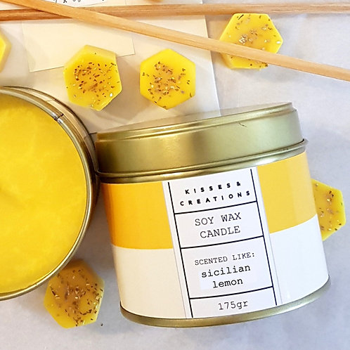 Sicilian Lemon Candle in a Can