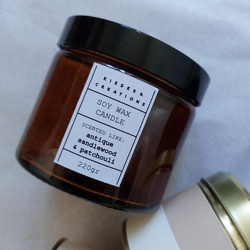 Antique Sandalwood Candle in Amber Jar