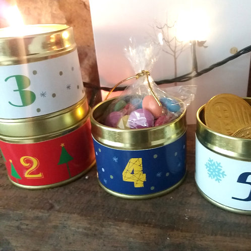 Advent Calender with candles