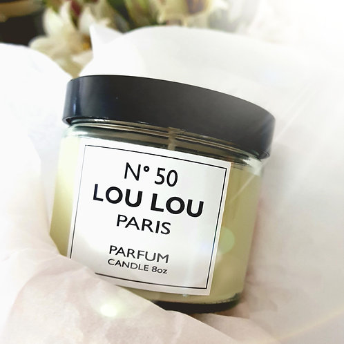 Pearisrsonalised Paris Candle