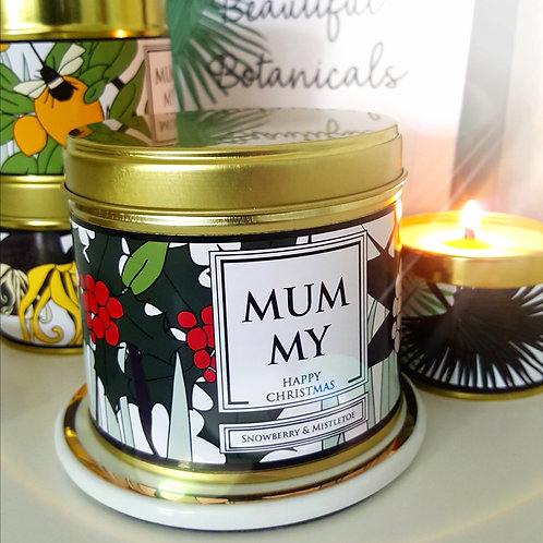 Personalised Botanical - Candle in a Can
