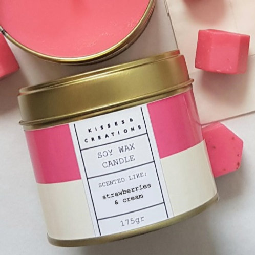 Strawberries & Cream Candle in a Can