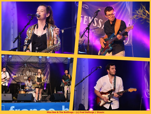 Miss Bee & The Bullfrogs @Blus in Queyssac 2021 ©Fred Delforge
