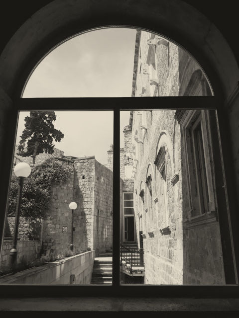 Musical school, view into the inner courtyard, Dubrovnik