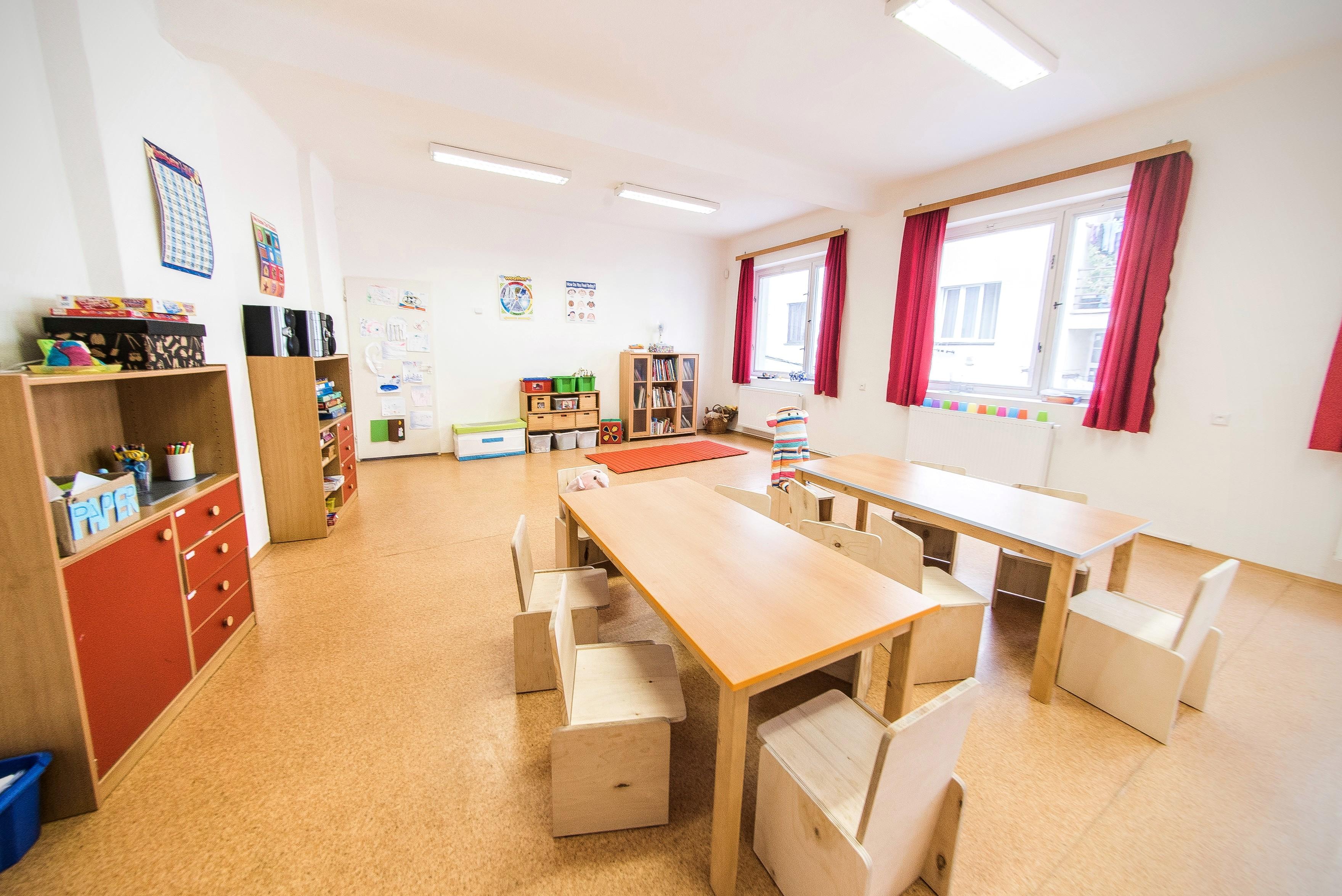Prostorná třída pro pobyt dětí