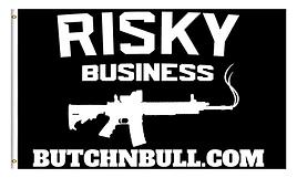 Risky Business AR Flag Black
