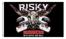 Business Bull Flag Black