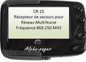 CR15 CRMS bip de secours