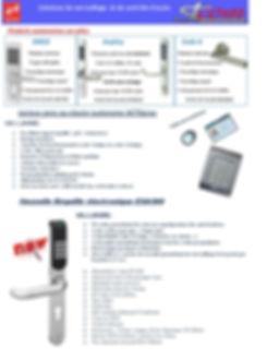 Contrôle d'accès , poigné , clavier numérique , clavier code d'accès , poigné