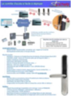 Contrôle d'accès , porte , poignée , carte magnétique , radio, stcom , st com