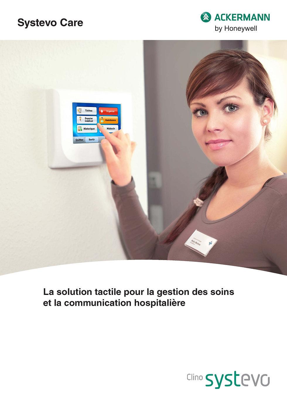 Systevo Care , Ackermann , gestion des soins ,communication hospitalière ,Appel malade
