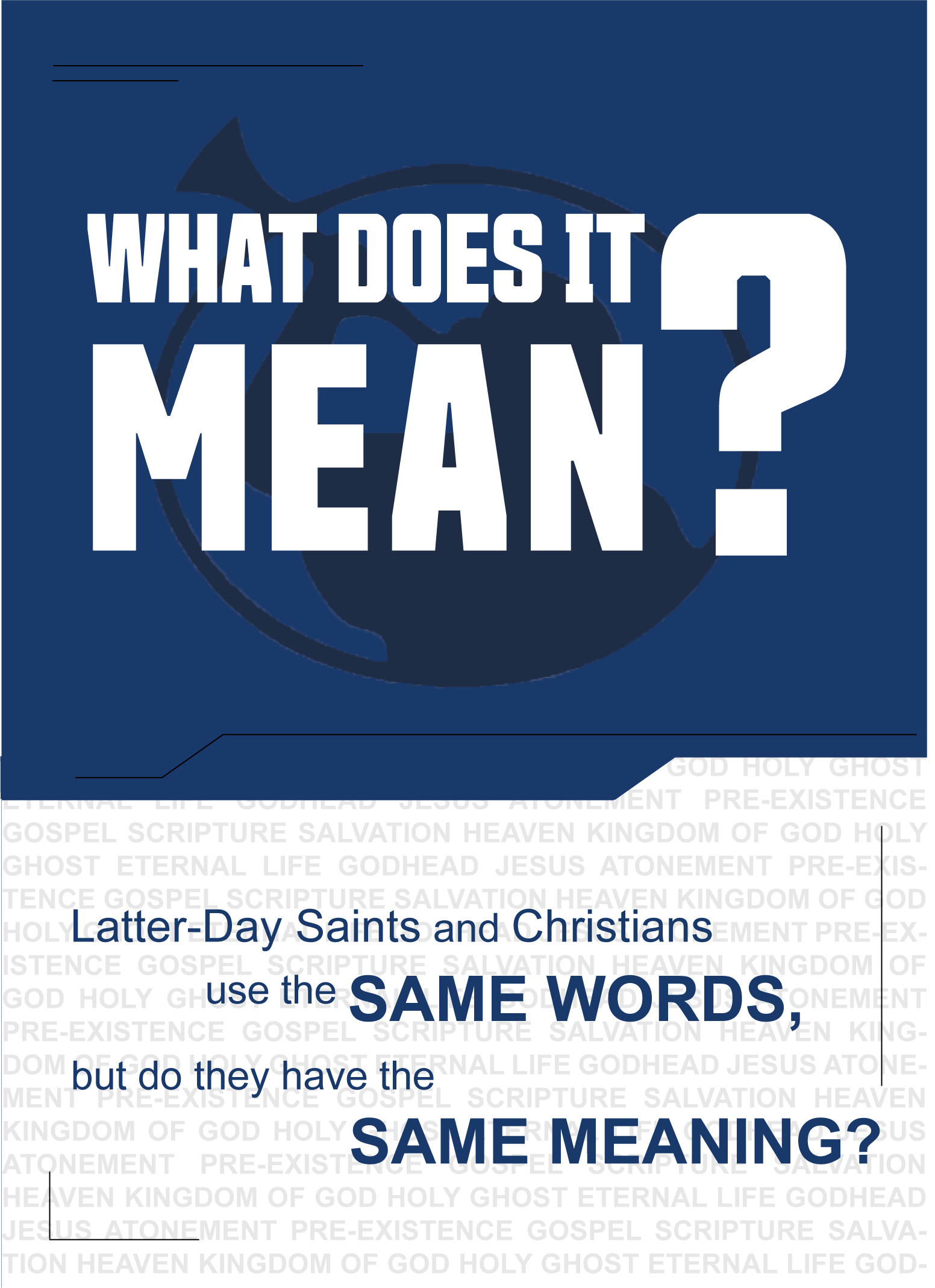 Latter Day Saints Tract - Back