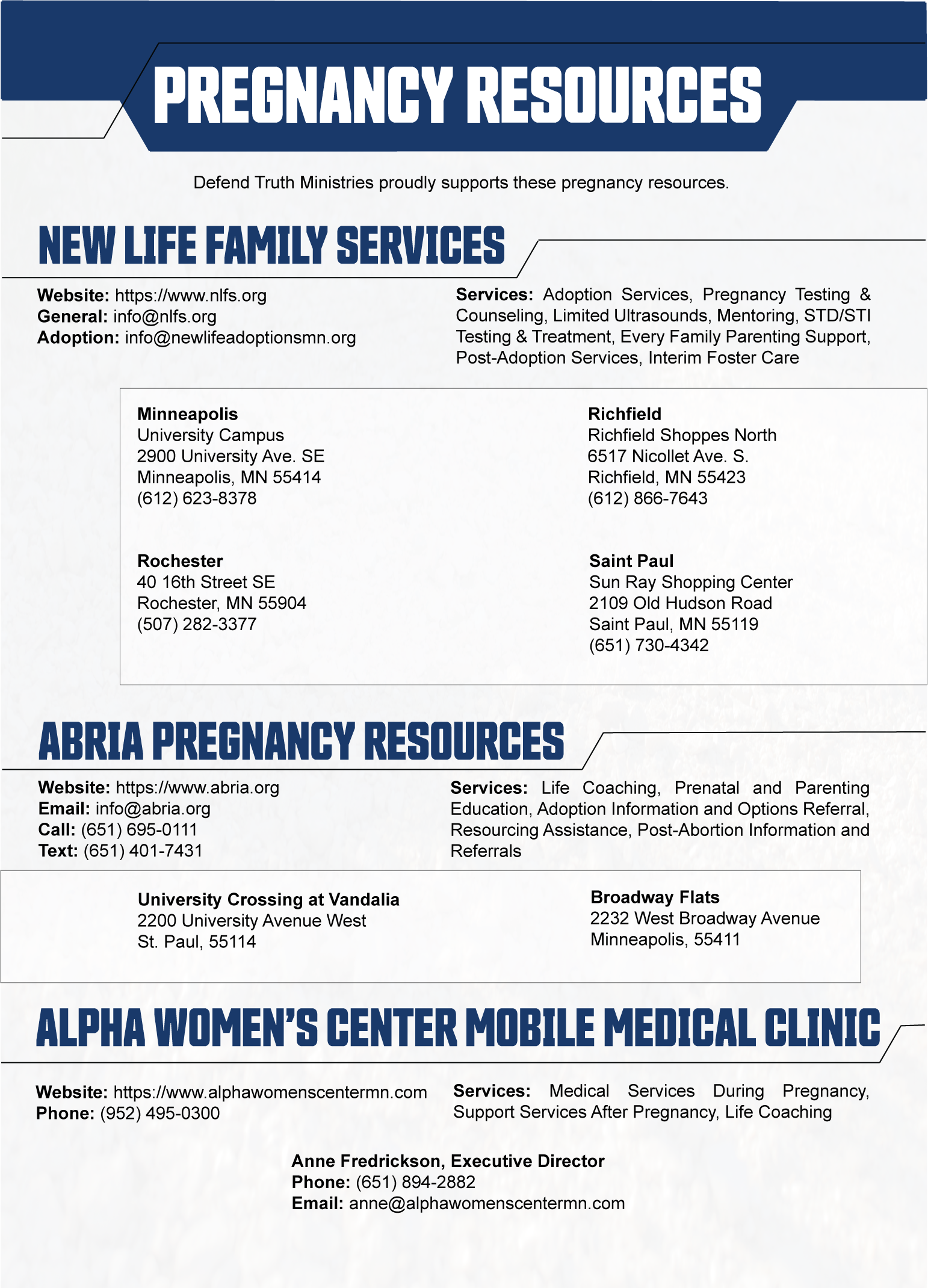 Abortion Tract - Resources