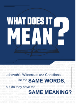 Jehovah's Witnesses Tract - Back