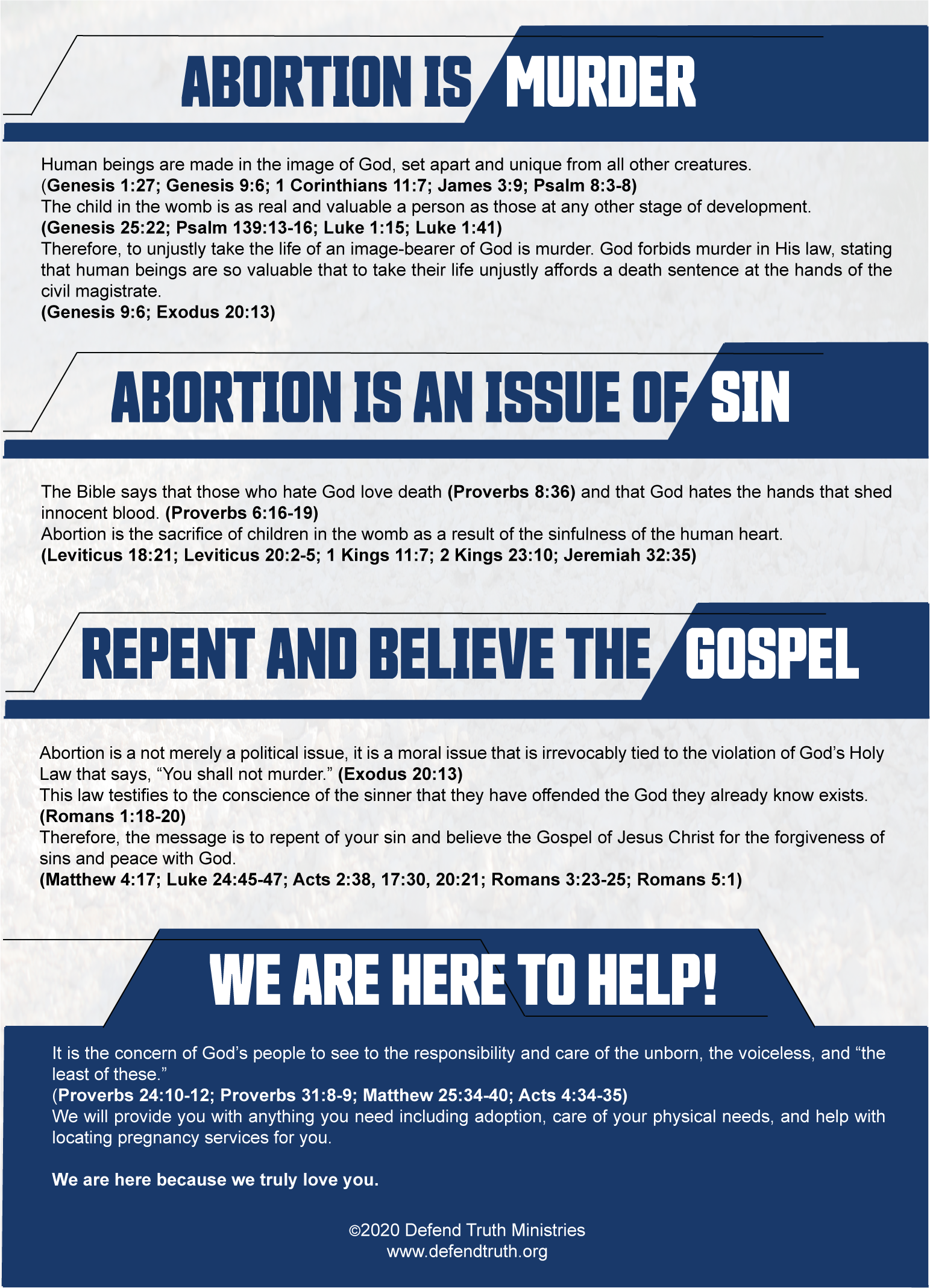 Abortion Tract - Facts