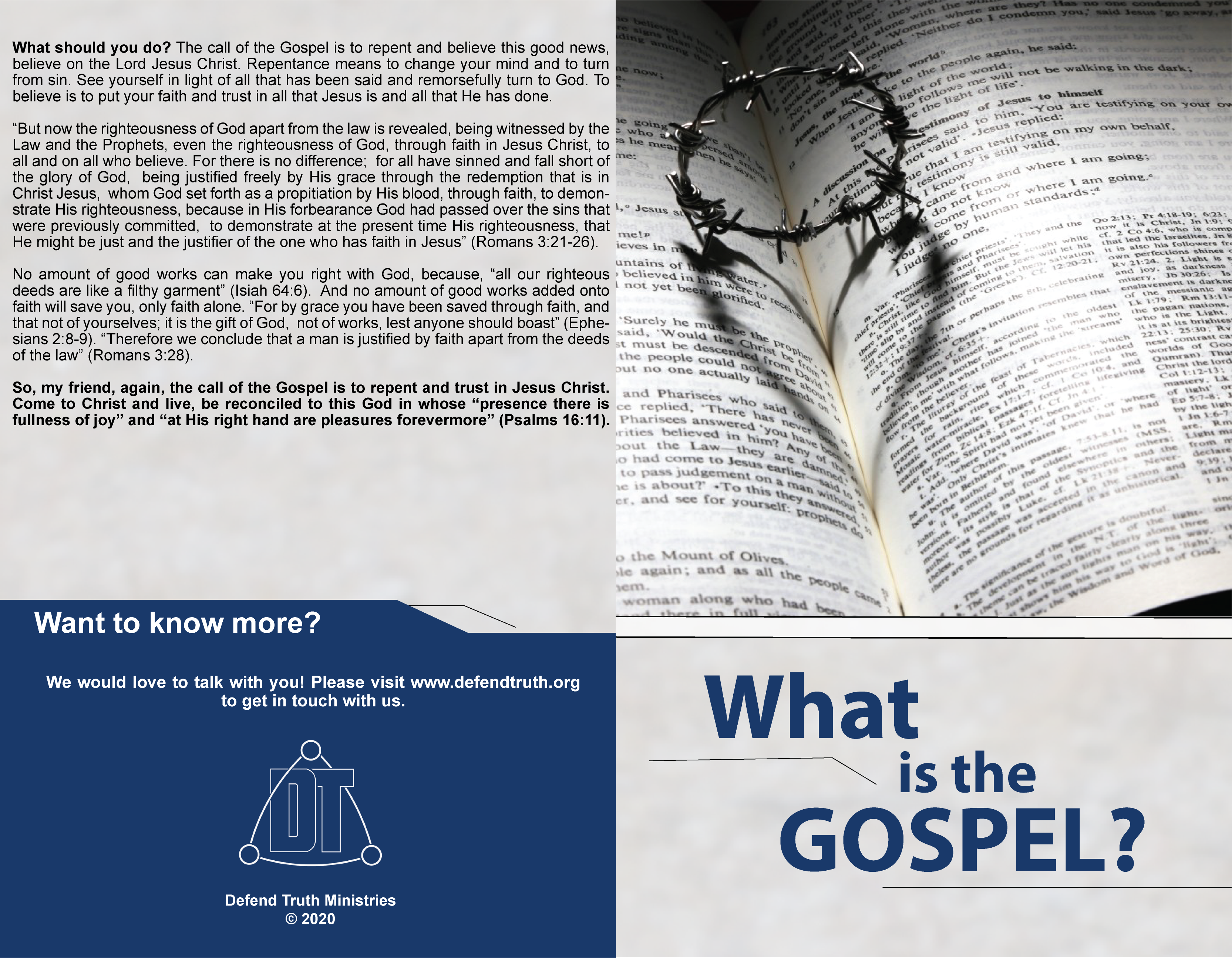 What Is the Gospel? - Outside