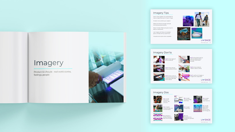 UV-SAGE Brand Imagery