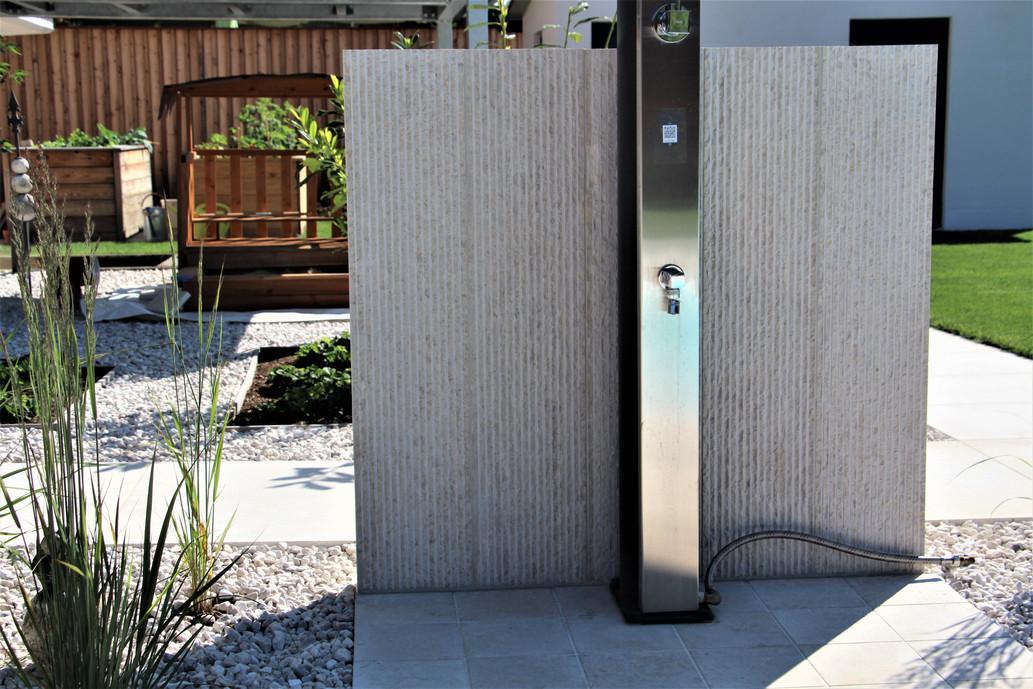 Privathaus Südburgenland (Material: Kanfanar, Oberfläche: sandgestrahlt & gebürstet)