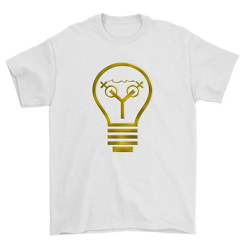 Light Bulb Tee (White & Gold)