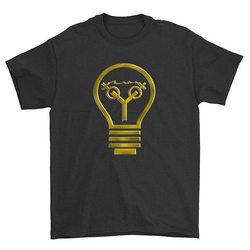 Light Bulb Tee (Black & Gold)