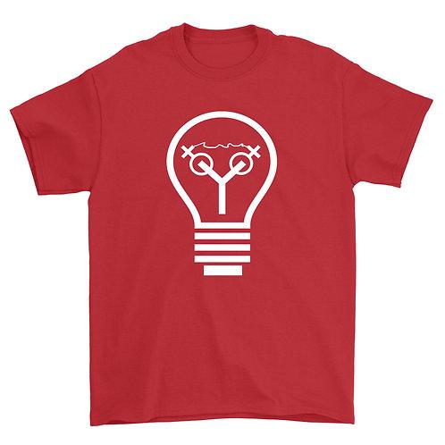 Light Bulb Tee (Red & White)