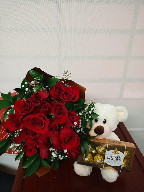 Bouquet de rosas más detalle
