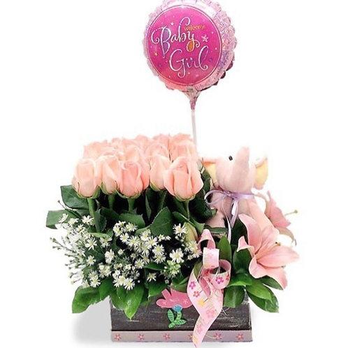Arreglo en Rosas para Baby Pink