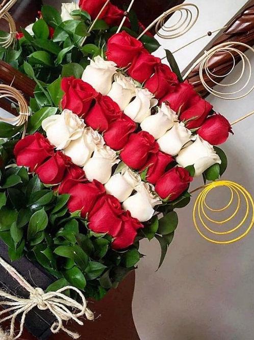 Caja de Rosas dulce amor big
