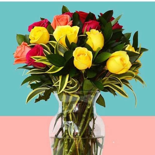Lluvia de Rosas de Colores