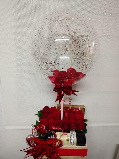 Caja de rosas súper especial