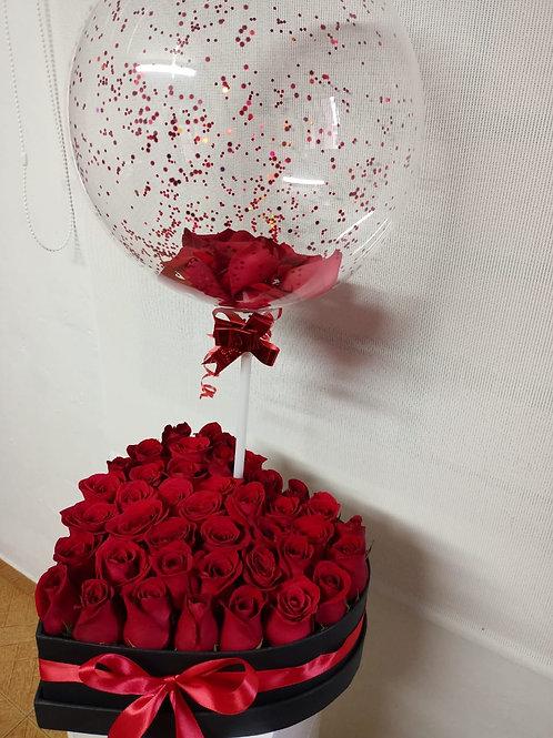 Corazón de rosas Premium