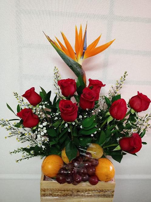 Frutero con rosas pequeño