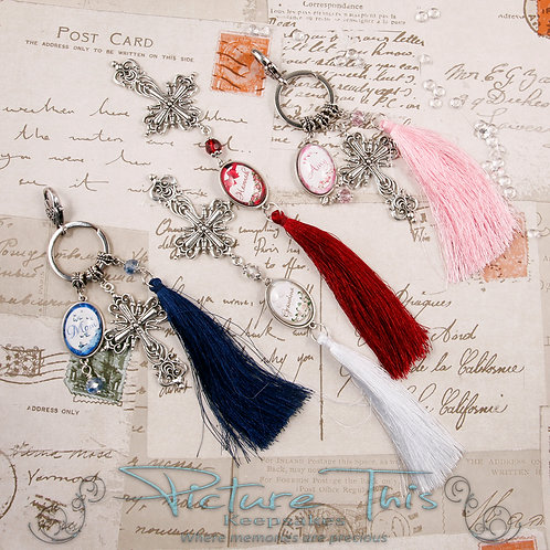 Gothic Cross Bookmark, Handbag charm